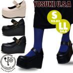 ショッピング厚底 厚底 パンプス ストラップパンプス メリージェーン レディース YOSUKE U.S.A ヨースケ 靴