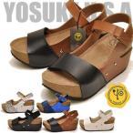 ショッピングウェッジ YOSUKE U.S.A ヨースケ 厚底サンダル レディース バックベルト ※(予約)は3営業日内に発送