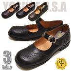 ショッピングストラップ シューズ YOSUKE U.S.A ヨースケ 超履きやすいフラットシューズ ストラップシューズ フラットパンプス