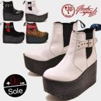 厚底 ブーツ プラットフォーム サイドゴア ショート  レディース YOSUKE U.S.A ヨースケ 靴 ※(予約)とあるものは3営業日内に発送