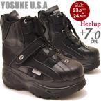 厚底スニーカー ハイカット レディース 黒 YOSUKE U.S.A ヨースケ