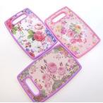 まな板 カッティングボード 小 かわいい おしゃれ 花柄 ローズ柄 薔薇雑貨 姫系雑貨