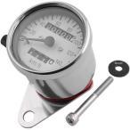 【メーカー在庫あり】 100014-10 ポッシュ POSH ミニスピードメーター 140km/h表示 トリップメーター付き SR400、TW200 白パネル