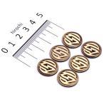 【USA在庫あり】 4320-1449 0208-2067 ローランドサンズデザイン RSD バッジキット RSDロゴ 真鍮 6個入り