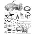 01-00-9321 SP武川 コンプリートエンジン(オートデコンプレッション) DOHC 4V 124cc/SS5速/油圧乾式/鍛造 モンキー/ゴリラ