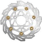 230154-33 シフトアップ ウェーブフローティングディスクローター 07年-11年 シグナスX シルバー/ゴールドピン 260mm