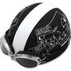 【メーカー在庫あり】 SNV-01 アークス AXS ハーフヘルメット スヌーピー コミック/マットブラック 57-59cm