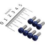 【メーカー在庫あり】 480815 ポッシュ POSH タンクキャップカバーボルトセット ZZR1100、ZRX1100、ZX-9R M5X12 7個入り 青ヘッド