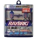 RA53 レイブリック RAYBRIG ハイパーハロゲン HB4 12V55W 4900ケルビン 2個入り ホワイトソニックS