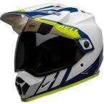 【メーカー在庫あり】 7110319 ベル BELL オフロードヘルメット MX-9 アドベンチャー MIPS ダッシュ 白/青/ハイビズ Mサイズ(57cm-58cm) JP店
