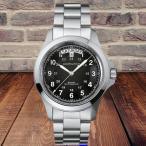 Hamilton Khaki  Field King Auto 40mm(カーキ フィールド キング オート)☆ブラックダイヤル☆ メタルベルトの腕時計〔H64455133/正規輸入品〕
