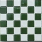 DIY Tile ハイカラー 23ミリ角 市松模様 白×グリーン お手軽タイプ