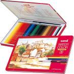 三菱鉛筆 ユニ ウォーターカラーなめらかな色鉛筆のタッチ 水彩筆付き 大人の色鉛筆 36色セット 送料無料