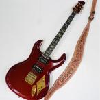 Mosriteコーナー Judy Edwards-san 手作り Nokie ギターストラップ ブラウン ゴールドロゴ