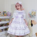 ロリィタ Lolita ジャンパースカート ヘッドドレス ドット