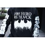 NINJA X パーカー フード スウェット / ニンジャエックス / His Hero Is Black Pullover / S,M,Lサイズ / Black / スケボー SKATE SK8 スケートボード PUNK