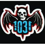 1031 SKATEBOARDS ステッカー シール / テンサーティーワン / Classic Bat sticker / Black×Blue×Red / スケボー SKATE SK8 スケートボード HARD CORE PUNK