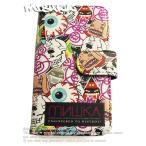MISHKA スマホケース 手帳型 iPhone(6/6S/7)ミシカ Phone Case アイフォンケース 総柄マルチキャラ スケボー SKATE SK8 HARD CORE PUNK パンク HIPHOP