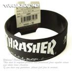 Thrasher Magazine ラバーバンド ブレスレット スラッシャー Rubber Band Black×White スケボー SK8 スケートボード HARD CORE PUNK ハードコア パンク