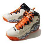 Fila (フィラ) ハイカット スニーカー シューズ MASHBURN MB Cream/Orange (マッシュバーン) バスケ バスケットボール PUNK パンク HIPHOP ヒップホップ