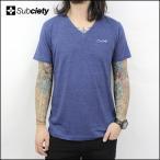 Subciety サブサエティ V-NECK TEE S/S-Praha- (NVY) Tシャツ 【SALE】