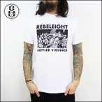 REBEL8 レベルエイト Tシャツ BOTTLED VIOLENCE SOFT TEE (WHT)