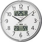 ショッピングインフルエンザ 【送料無料】CITIZEN・シチズン 環境目安表示付き温度計・湿度系 電波時計 インフォームナビF [4FY618-019]