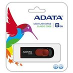 ADATA スライド式 USBフラッシュメモリー8GB USBメモリー AC008-8G-RKD