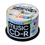 [条件付き送料無料] [RiTEK] 音楽用CD-R 50枚パック 1〜24倍速対応 CD-RMU80.50SP A