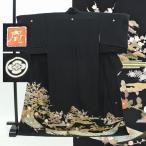 黒留袖 中古 リサイクル 正絹 五つ紋 比翼付き 京友禅