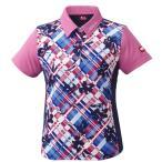 ニッタク(Nittaku) 卓球 レディース ゲームシャツ フラチェックスシャツ ピンク NW2181 ピンク O