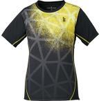 ゴーセン(GOSEN) テニス バドミントン レディース ゲームシャツ T1721 ブラック(39) S
