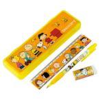 ショッピング筆箱 スヌーピー ペンケース・シャープペン・15cm定規・消しゴム4点文具セット snoopy 筆箱