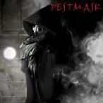 マッドドクター 仮装 変装用マスク ブラック コスプレ ペストマスク 覆面