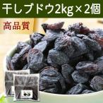 干しブドウ2kg×2個 (500g×8袋) 砂糖不使用 レーズン レスベラトロール アントシアニン ドライフルーツ ポリフェノール お徳用