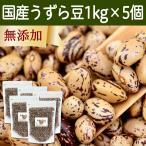 国産うずら豆1kg×5個 うずらまめ ウズラマメ 北海道産 無添加
