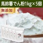 馬鈴薯澱粉1kg×5個 国産 ばれいしょ でん粉 バレイショ でんぷん 無添加 100% 片栗粉 料理 材料 製菓 じゃがいも ジャガイモ 由来 自然健康社