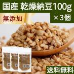 乾燥納豆 100g×3個 ドライ納豆 国産 フリーズドライ 挽き割り納豆 送料無料