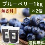 ブルーベリー1kg×2個 アントシアニン カナダ産 ポリフェノール ドライフルーツ 送料無料