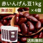 赤インゲン豆(金時豆)1kg×4個 いんげん豆 無添加 送料無料