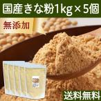 きな粉 1kg×5個 きなこ 国産 大豆 粉末 きなこもち 餅 送料無料
