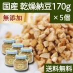 国産・乾燥納豆170g×5個 国産大豆使用 フリーズドライ ふりかけ 無添加 ナットウキナーゼ 納豆菌 ポリアミン ポリポリ 安全 なっとう 送料無料
