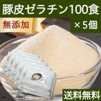 豚皮ゼラチン100食×5個 すぐ溶ける 小分け包装 無添加 国産 パウダー 送料無料