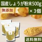 国産しょうが粉末500g×3個 高知県産 蒸気殺菌 生姜パウダー 送料無料