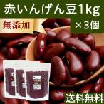 赤インゲン豆(金時豆)1kg×3個 いんげん豆 無添加 送料無料