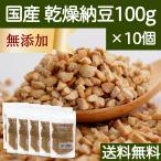 国産・乾燥納豆100g×10個 国産大豆 無添加 ドライ納豆 フリーズドライ ナットウキナーゼ 納豆菌 スペルミジン ポリアミン 大豆イソフラボン なっとう 送料無料