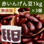 赤インゲン豆(金時豆)1kg×3個 いんげん豆 レッド キドニー ビーンズ 無添加 いんげんまめ アメリカ産 チャック付き袋 鉄分 亜鉛