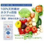 野菜・果物の洗浄パウダー 100g 洗浄用品 野菜洗浄除菌剤 ホタテ 貝殻 粉 パウダー 食品添加物 鮮度 維持 野菜 果物 保持 野菜
