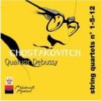 Shostakovich ショスタコービチ / 弦楽四重奏曲第1、5、12番 ドビュッシー四重奏団 輸入盤 〔CD〕