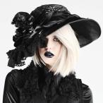 ハット/ゴシック/ロリータ/Black flower HAT/h.NAOTO